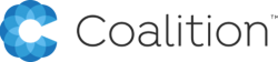 Coalition logo, an internet cyber insurance platform that attended ITC. See Magellan for more.