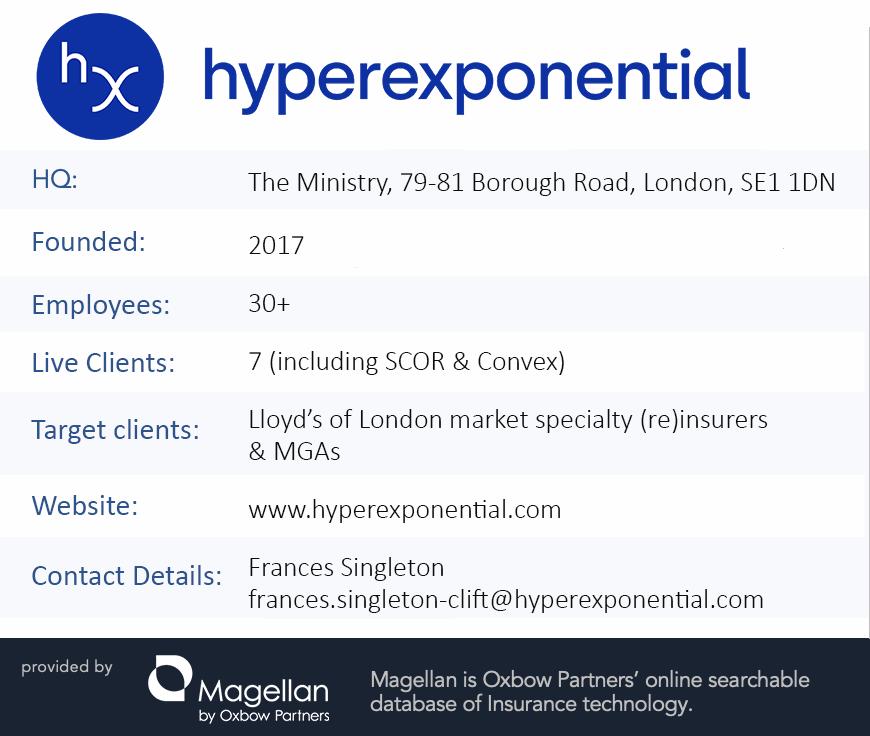 Oxbow Partners TechExec: hyperexponential factfile